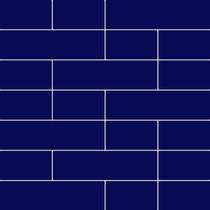 Pastilha De Parede Tijolinhos Azul (caixa Com 4 Placas)