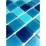 Pastilha Azul Para Piscina Linha Lisa 2x2cm. Promoção