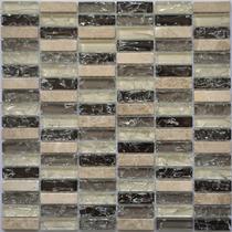 Pastilha Vidro Ice Craquelado Com Pedra Caixa Com 11 Placas