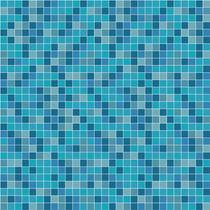 Adesivo Parede Faixa Azulejo Ladrilho Azul Piscina Kit 7 Un