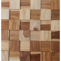 Mosaico Madeira Teca Lisa - Pastilhas - 30cm X 30cm