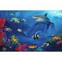 Painel Decorativo Festa Infantil Fundo Do Mar Oceano (mod5)
