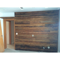 Painel Em Madeira De Demolição Instalado Preço Por M2