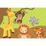 Painel Decorativo Festa Infantil Safari Zoo Animais (mod5)