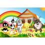 Painel Decorativo Festa Infantil Looney Tunes Baby (mod3)