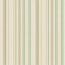 Papel De Parede - Listras Bege E Verde (10 Metros X 52cm)