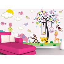 Papel De Parede Adesivo Safari Decorativo Infantil Zoo Mod07