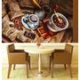 Papel Parede Painel Adesivo Cozinha Café Cafeteria Xicara M6
