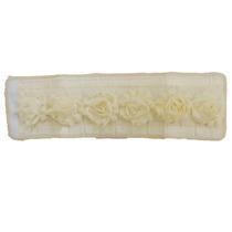 Porta Papel Higiênico Rosinha Branco Com Bege