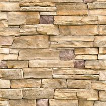 Papel De Parede Pedras Natural Rústica Filetes