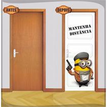 Adesivo Decorativo Para Porta Minions + Brinde