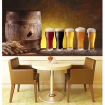 Papel Parede Adesivo Cerveja Cozinha Churrasqueira Bar M12