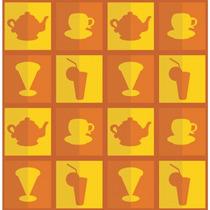 Papel De Parede Cozinha 08, 3,05mx0,59cm Adesivo De Parede