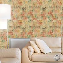 Papel De Parederecicled Paper With Aquarele Cubes 67x250