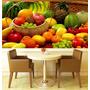 Papel Parede Adesivo Painel Cozinha Churrasqueira Frutas M03