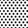 Papel De Parede Poa 01 Branca E Preto