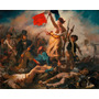 Painel Eugène Delacroix 90x112cm A Liberdade Guiando O Povo