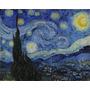Van Gogh Gravura P Quadro Arte 90x113cm Obra Noite Estrelada