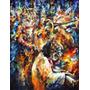 Leonid Afremov Foto Grande 55x72cm Obra Arte Gatos Tocando 2