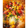 Gravura Hd P/ Quadro Afremov 55x69cm Obra Flores De Ilusões