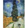 Gravura P/ Quadro 85x111cm Van Gogh Obra Road With Cypresses
