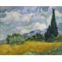 Foto P/ Quadro 90x114cm Van Gogh Campo De Trigo C/ Ciprestes