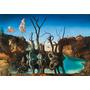 Dali Painel Grande 90x131cm Obra Cisnes Refletindo Elefantes