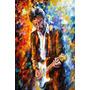 Quadro Decorativo Aquarela Eric Clapton Quarto Sala 60x40