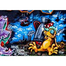 Grafite Foto Poster 62cmx90cm Papel Decoração Street Parede
