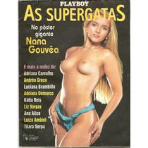 Poster Gigante Playboy Nana Gouvêa Super Gatas Anos 90