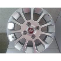 Jogo De Rodas Fiat Uno Top Aro 13 Prata E Grafite Original