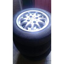 Rodas De Alumínio 4 Furos Aro 14 Com Pneus 175-65-14