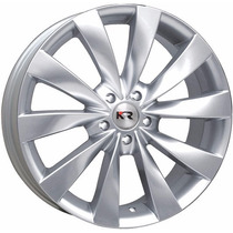 Roda Esportiva K23 Aro 15 4x108 Prata Ford Fiesta Ka Focus