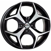 Roda K18 Aro 13 4x108 Preta Diamantada Ford Fiesta Ka Escort