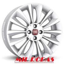 Jogo De Roda Fiat Linea Absolute Aro 15 Prata Punto Uno Idea