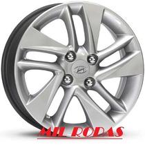 Roda Aro 15 Hyundai Hb 20 - Pintada Prata