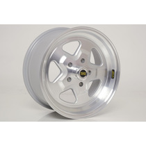 Roda Modelo Power Star 5 Furos Tala Larga 7 Polida - Ag