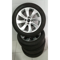 Roda Citroen C4 Com Riscos De Uso, Pneu Pirelli 195 55 16