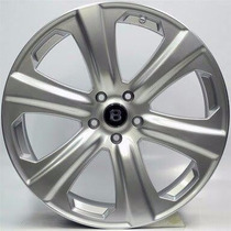 Roda Bentley Sport Aro 17 5x100 Prata Fox/ Audi/ Polo/ Bora