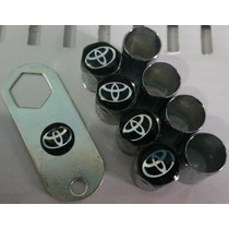 Bico De Pneu Emblema Toyota Funto Preto Frete Gratis