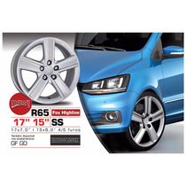 Roda Aro 17 Vw Fox Highline 2015 Prata 4 E 5 Furos R65