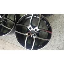 Roda Aro 17 Wsw Diamantada Com Preto Gol Celta