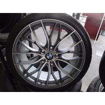 Jogo De Rodas 19 Bmw 5x120 Tala 8,5 Com Pneus Dunlop 245/35