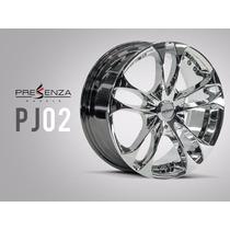 Jogo De Rodas Presenza Wheels Pj02 Cromada Original
