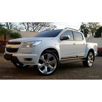 Jogo Rodas Trail Blazer Aro 22+pneus Novos Ranger S-10 L200