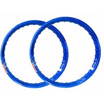 Aro Moto Aluminio Colorido Cg Titan 125 Todas Azul Royal Top