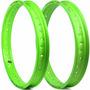 Par De Aros Street Viper Cg 125 Ml 1978 A 1988 - Verde Neon