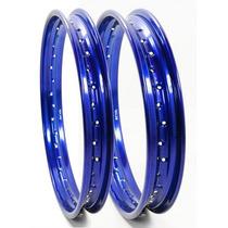 Aro Roda Titan 125/150 Tras 185 X 18+ 215 X 18 Azul 357+394