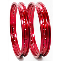 Par Aro Roda Titan,fan,ybr 185x18 + 215x18 Vermelho + Largos
