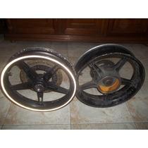 Roda Traseira Com Tambor E Roda Dianteira Moto Cb 300